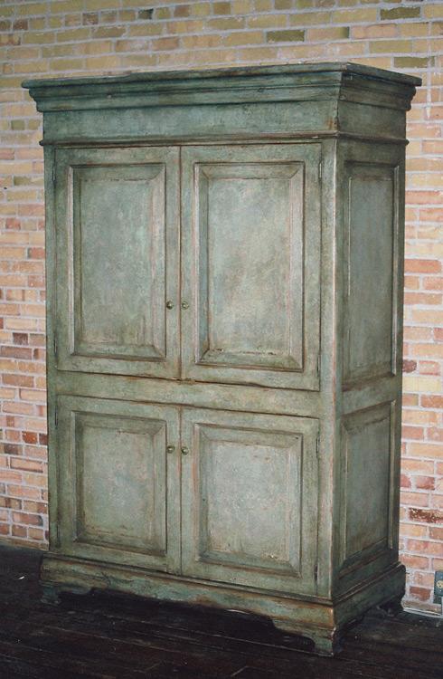 Green-Raised-Panel-Armoire